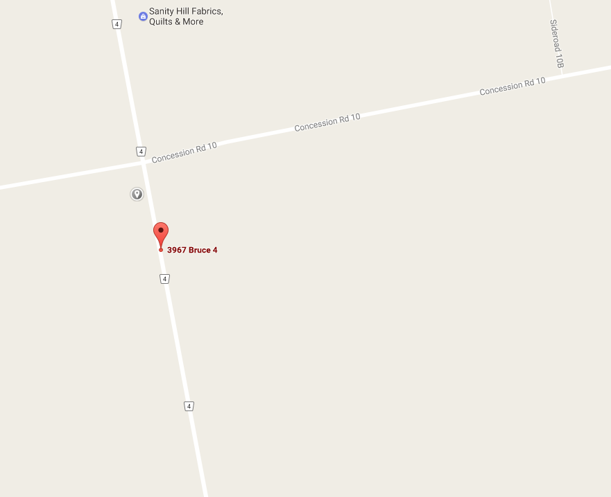 map for 3967 Highway 4 Teeswater,ON N0G 2S0