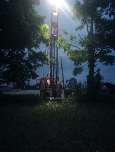 drilling in the night